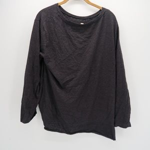 Umgee Tops - Umgee Black Knot Side Long Sleeve Blouse Size M